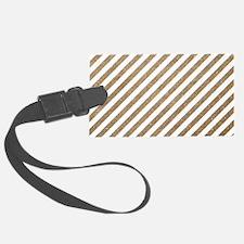 Gold/White Glitter Diagonal Mod  Luggage Tag