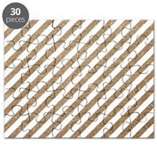 Gold/White Glitter Diagonal Mod Stripe Puzzle