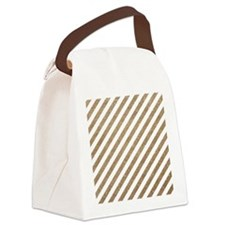 Gold/White Glitter Diagonal Mod S Canvas Lunch Bag