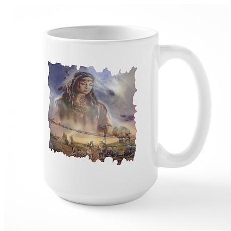 White Buffalo Gift Large Mug