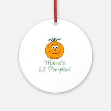 Mamos Little Pumpkin Round Ornament