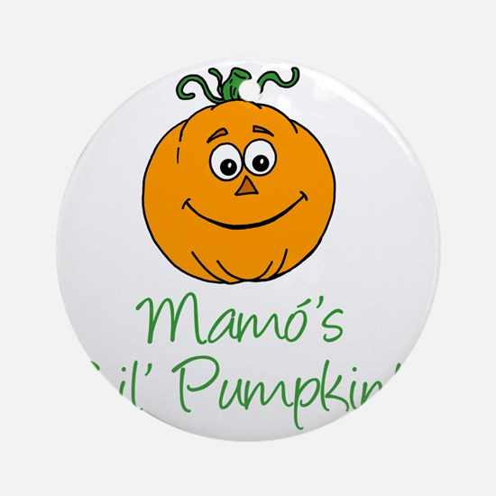 Mamos Little Pumpkin Round Ornament