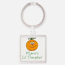 Mamos Little Pumpkin Square Keychain