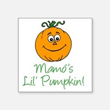 "Mamos Little Pumpkin Square Sticker 3"" x 3"""