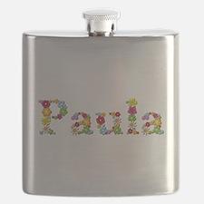 Paula Bright Flowers Flask