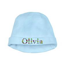 Olivia Bright Flowers baby hat
