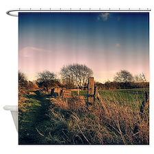 Rural Walk Home Shower Curtain