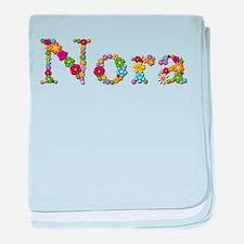 Nora Bright Flowers baby blanket
