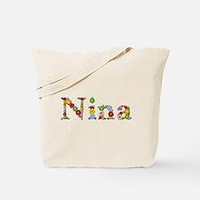 Nina Bright Flowers Tote Bag