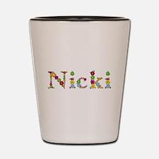 Nicki Bright Flowers Shot Glass