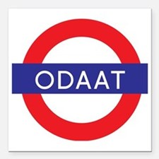 """ODAAT - One Day at a Tim Square Car Magnet 3"""" x 3"""""""
