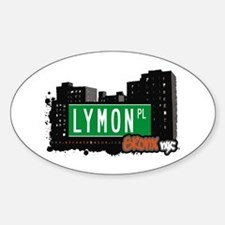 Lymon Pl, Bronx, NYC Oval Decal