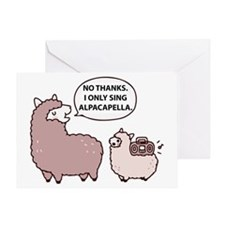 Acapella Humor Greeting Card