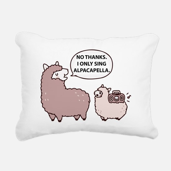 Acapella Humor Rectangular Canvas Pillow