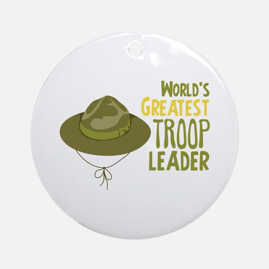 Greatest Troop Leader Ornament (Round)