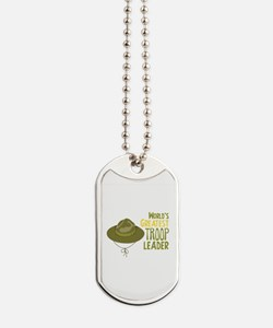 Greatest Troop Leader Dog Tags