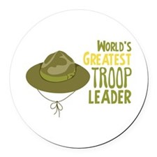 Greatest Troop Leader Round Car Magnet