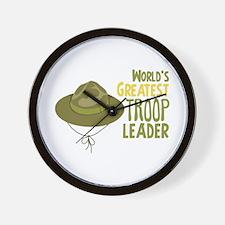 Greatest Troop Leader Wall Clock