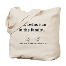YES, TWINS RUN IN THE FAMILY Tote Bag