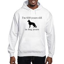 90 birthday dog years german shepherd black Hoodie
