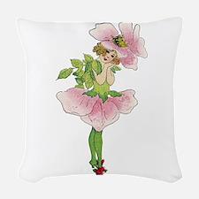 Garden Fairy Woven Throw Pillow