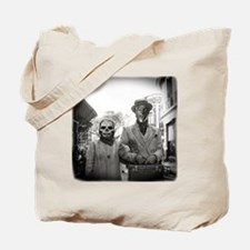 Black and White Freaky Vintage Couple Tote Bag