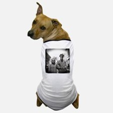 Black and White Freaky Vintage Couple Dog T-Shirt