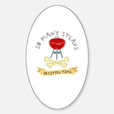 Grilling Oval Decal
