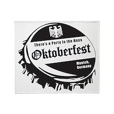 Oktoberfest-Bottle-Cap Throw Blanket