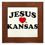 Jesus Loves Kansas Framed Tile