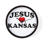 Jesus Loves Kansas Wall Clock