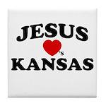 Jesus Loves Kansas Tile Coaster