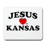 Jesus Loves Kansas Mousepad