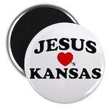 Jesus Loves Kansas Magnet