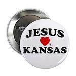 Jesus Loves Kansas Button