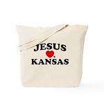Jesus Loves Kansas Tote Bag