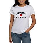 Jesus Loves Kansas Women's T-Shirt