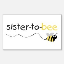 sister to be t shirt Rectangle Decal