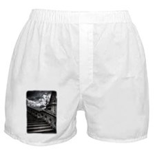 Black and White Gothic Castle Boxer Shorts