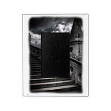 Black and White Gothic Castle Picture Frame