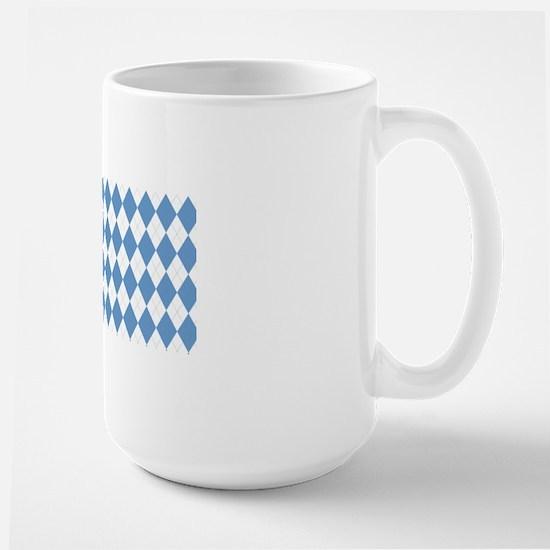 UNC Carolina Blue Argle Basketball Large Mug