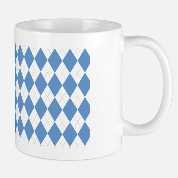 UNC Carolina Blue Argle Basketball Mug