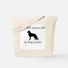 95 birthday dog years german shepherd black Tote B