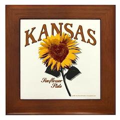 Kansas - The Sunflower State! Framed Tile