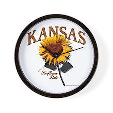 Kansas - The Sunflower State! Wall Clock