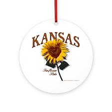 Kansas - The Sunflower State! Ornament (Round)