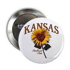 "Kansas - The Sunflower State! 2.25"" Button"