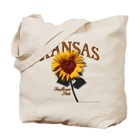 Kansas - The Sunflower State! Tote Bag