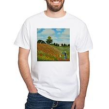Poppy Field by Monet T-Shirt