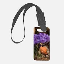 Robin and Crocus Luggage Tag